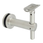 85mm Adjustable Bracket for Glass - Curved Cradle (Satin)
